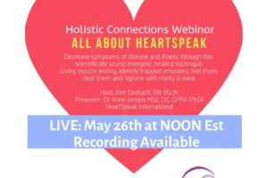 NEW Holistic Connections Webinar – All About Heartspeak